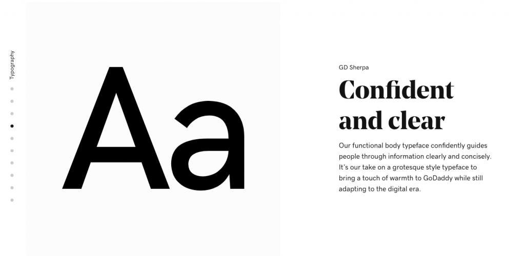 GoDaddy rebranding - typography